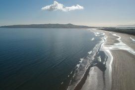 Kitesurfing beach in Ireland, Dublin Portmanock