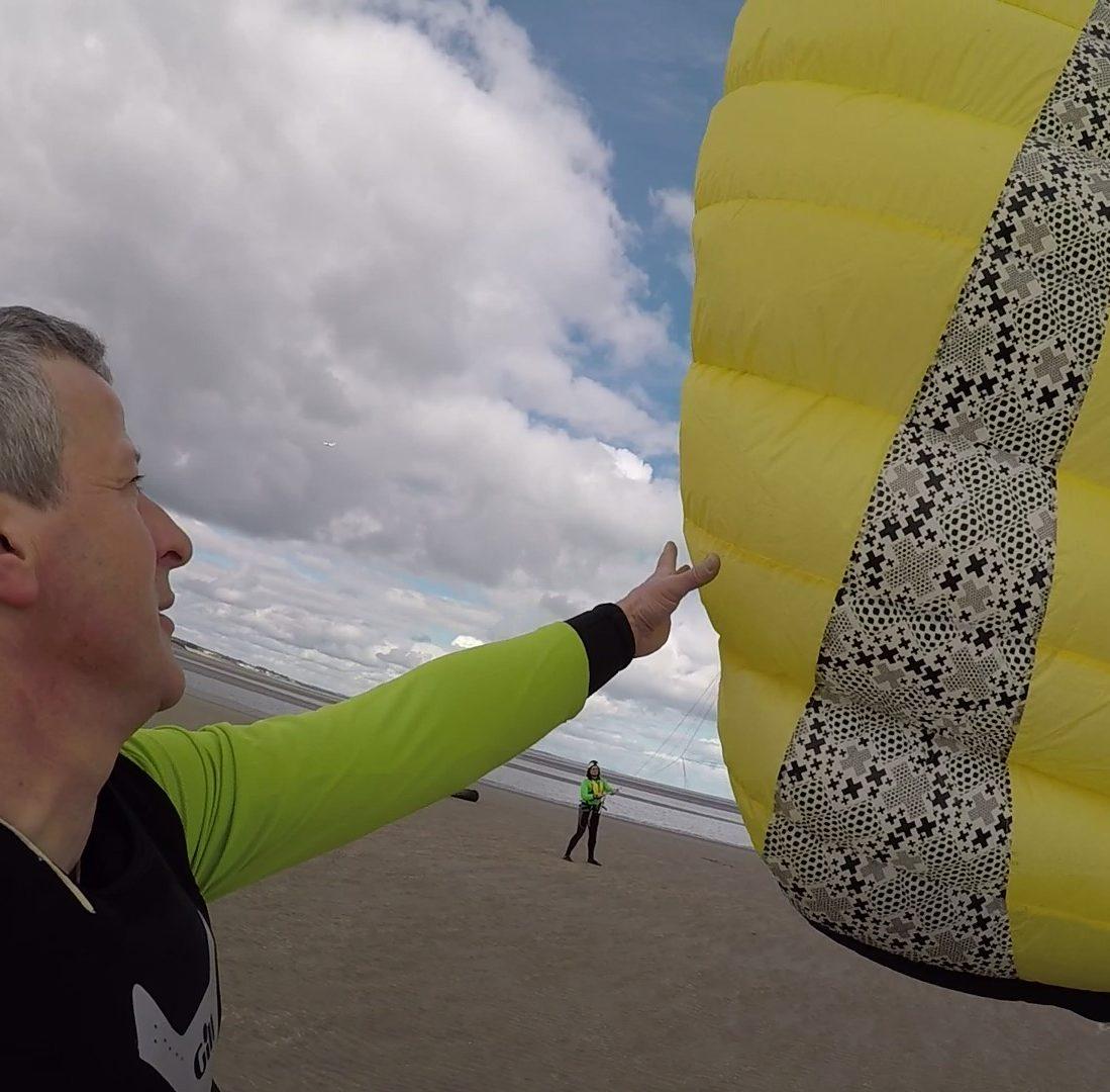 Kitesurfing lessons landing